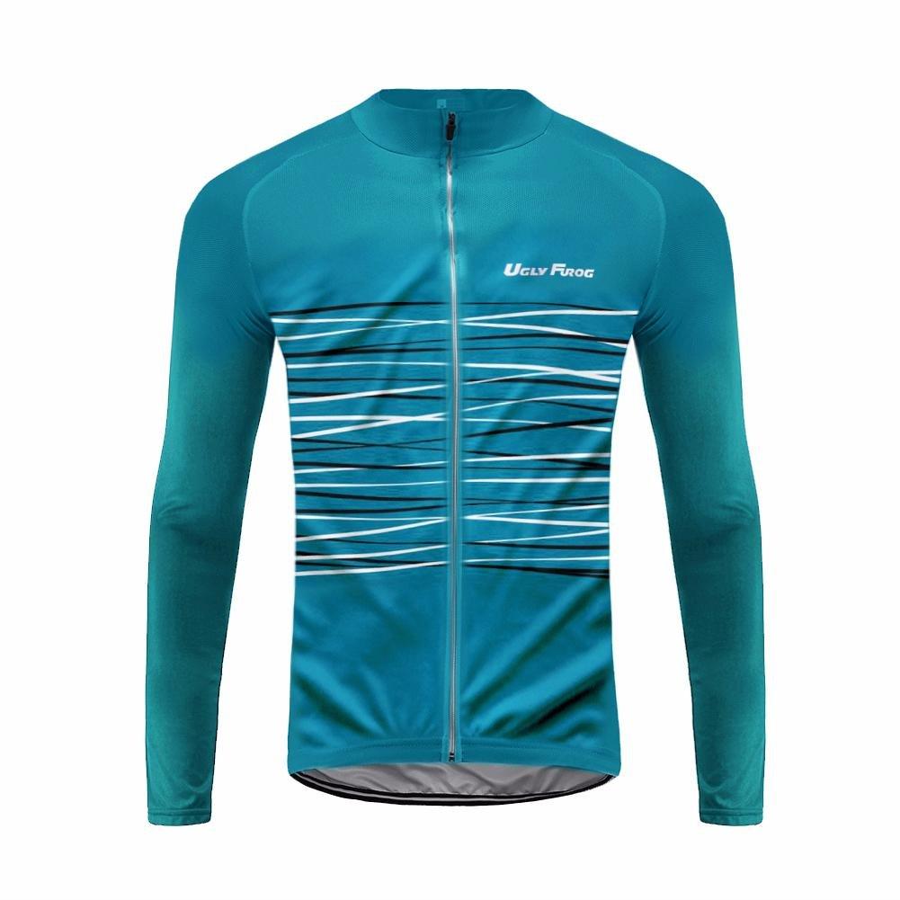 Uglyfrog 2016 ug9新しい春&秋アウトドアスポーツメンズクラシック長袖サイクリングジャージー自転車シャツTriathon Clothing B074V33P3N 4L|カラー12 カラー12 4L