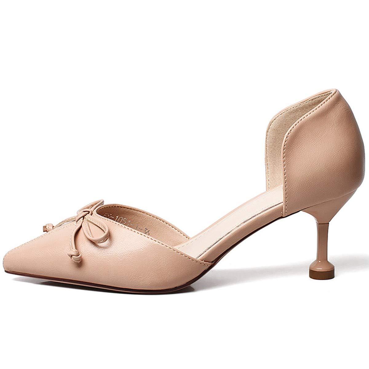 LBTSQ-High Heels 6cm Joker Bogen Sexy Zeigte Mitte der Ferse Mode Schuhe.