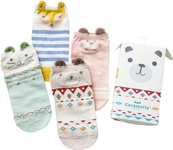 Tokkids 4 pares de calcetines bebe niño algodon (animal friends ...