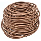 Coffee Brown 25ft Round 18/2 Cloth Covered Wire, Antique Industrial Electrical Cloth Cord,Vintage Style Lamp Cord Strands