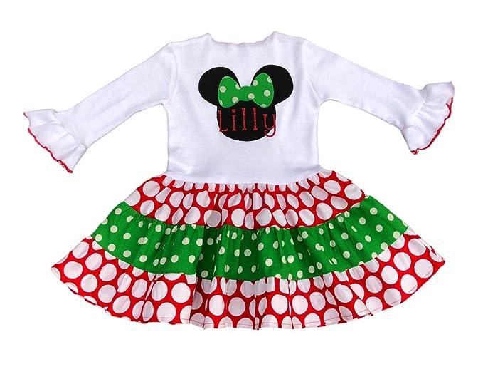 Minnie Mouse Christmas Dress.Amazon Com Lil Bug Clothing Minnie Mouse Christmas Dress