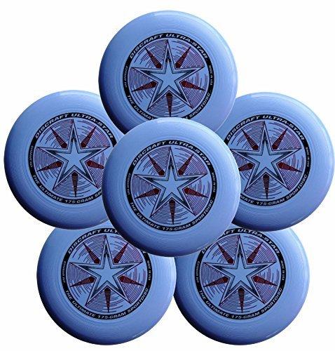 Discraft Ultra-Star 175g Ultimate Frisbee Sport Disc (6 Pack) Light Blue