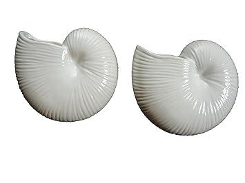 2 x Muschel Keramik Luftbefeuchter Heizkörper Wasserverdunster ...