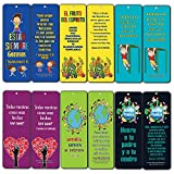 Spanish Bible Verses Bookmarks for Kids (60-Pack) - Character Building Marcapáginas Cristiano - Great Christian Gifts for Easter Baptism Thanksgiving Christmas Birthday - Prayer Cards - War Room Decor