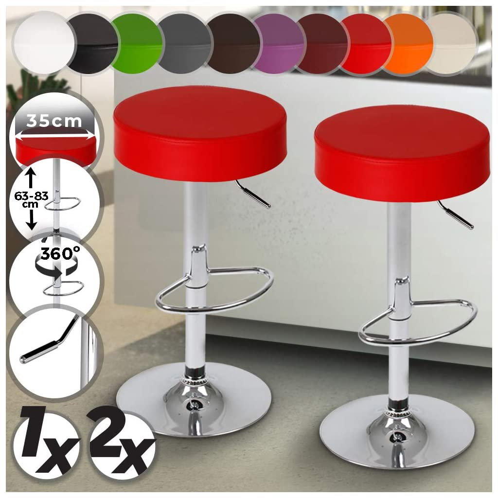 Jago LBHK06 2 Red Bar Stools