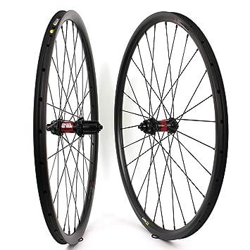 Yuanan 29er MTB - Rueda de Carbono para Bicicleta de montaña XC o Am (35 mm de Ancho, sin Tubo, para buje DT 240): Amazon.es: Deportes y aire libre