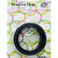 fashonstudio1 Self Adhesive Magnetic Strip Tape, 1 m Strong Magnet, 2 cm X 1 m