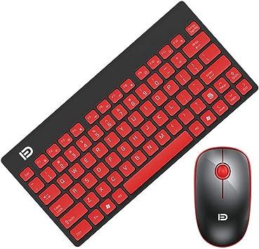 KINGXX-01 Pack de Teclado y ratón inalámbricos Combo de Mouse ...
