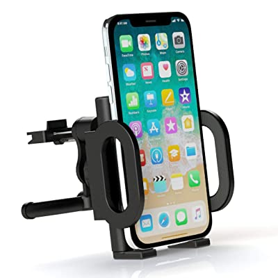 Car Mount, Attom Tech Car Vent Cell Phone Holder Mount Stand Cradle with Kickstand, 360 Deg Rotatable Joint Fits iPhone X 8 7 Plus 6S 6 5s 5 SE, Galaxy S8 S7 S6 Edge, Note 8 5 4 2 and Mini Tablets
