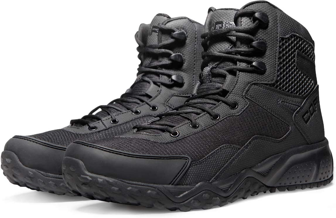 CQR Mens Combat Military Tactical Mid-Ankle Boots EDC Outdoor Assault