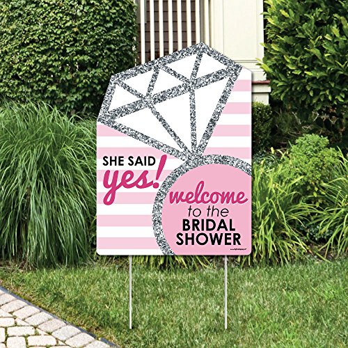 Big Dot of Happiness Bride-to-Be - Bridal Shower Party Decorations - Classy Bachelorette Welcome Yard -