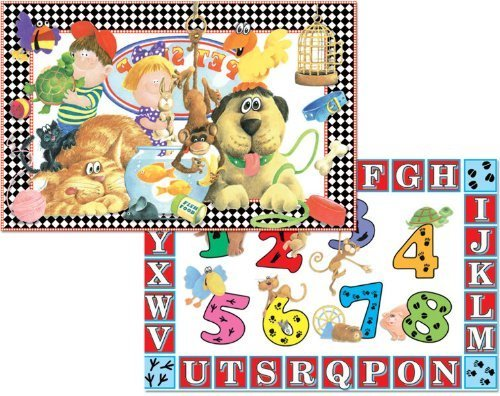 Set Childrens Placemats Reversible Washable