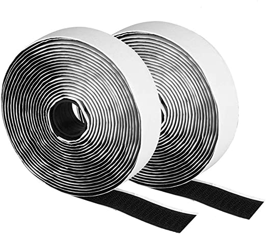 HOOK AND LOOP TAPE STICKY BACKED ADHESIVE OR SEW ON 20MM 25MM 50MM FASTENER TAPE