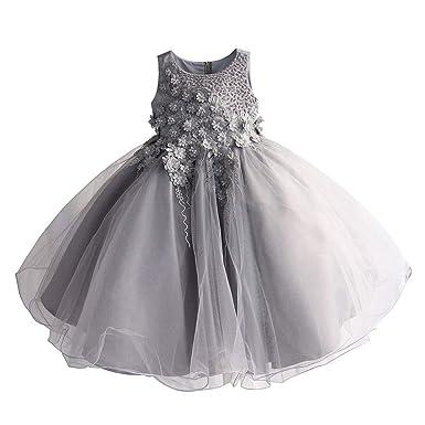 LYCLOTH Vestido De Noche De Niña Premium Pearl Inlay Falda de ...