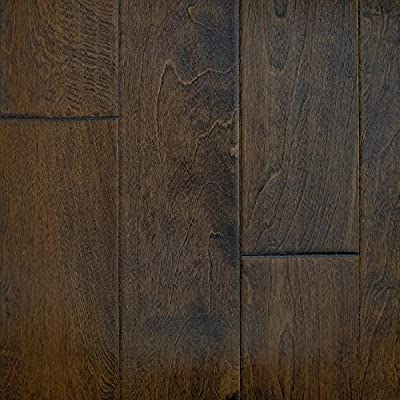 """Birch (Cappuccino) Hand Scraped Prefinished Engineered Wood Flooring 5"""" x 3/8"""" Samples at Discount Prices by Hurst Hardwoods"""