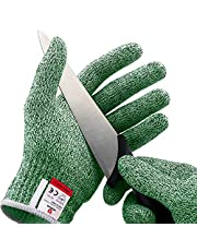 NoCry Cut Resistant Gloves - Ambidextrous, Food Grade, High Performance Level 5 Protection, Complimentary Ebook Included