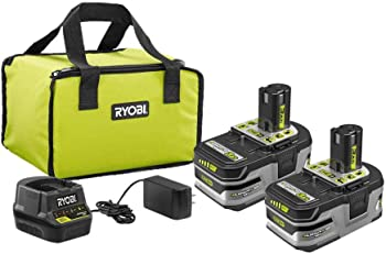 Ryobi 18V Kit with (2) 3.0Ah Battery & Charger + 2-Pack 4.0 Ah Battery