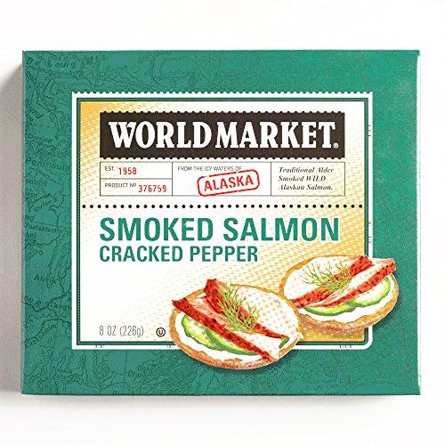 Pepper Smoked Alaskan Salmon 8 oz each (3 Items Per Order, not per case)