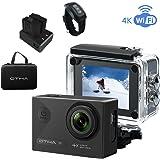 OTHA Sports Action Camera 4K Impermeabile Wi-Fi 16MP 170 Gradi con Videocamera Subacquea SONY Sensor, Visione Notturna, Telecomando Wireless, 2 Batterie Ricaricabili Incluse