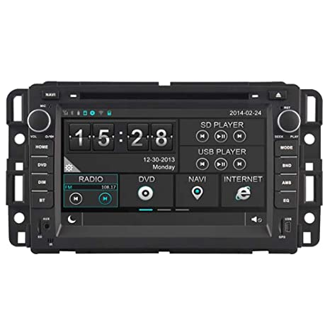 Witson Car DVD GPS Navigation Multimedia Autoradio Headunit for Chevrolet  Chevy 07-12 Avalanche Silverado Suburban Tahoe Traverse 07-12 Impala 07-09