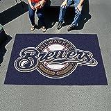 Fan Mats 6493 MLB - Milwaukee Brewers 5' x 8' Ulti-Mat Area Rug / Mat