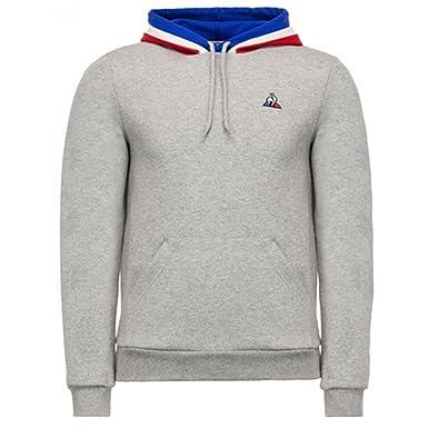 Le Coq Sportif Sweat Capuche Tricolore Gris  Amazon.fr  Vêtements et  accessoires ac3d2cbc7b10