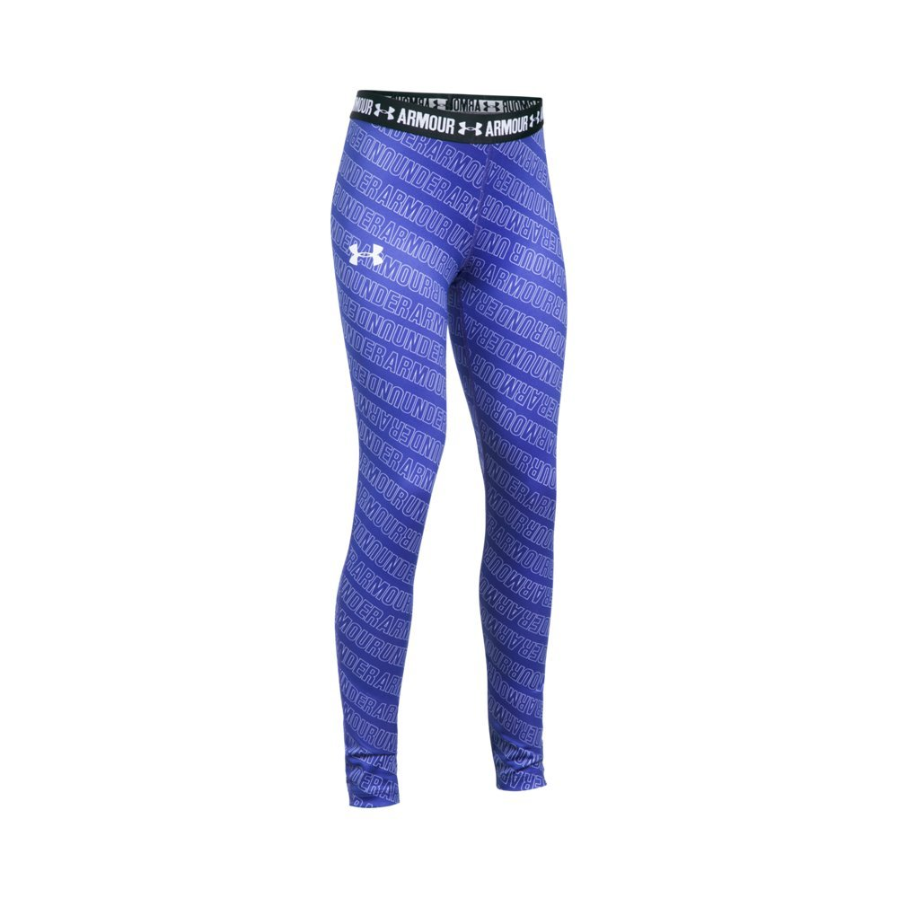 Under Armour Girls' HeatGear Armour Printed Legging, Constellation Purple /White, Youth X-Small