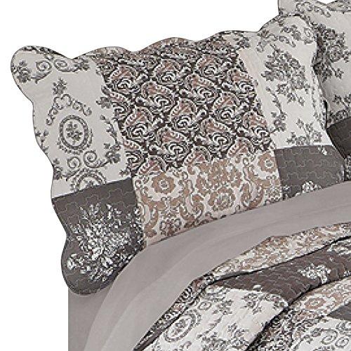Tessa Patchwork Pillow Sham, Mocha, Standard