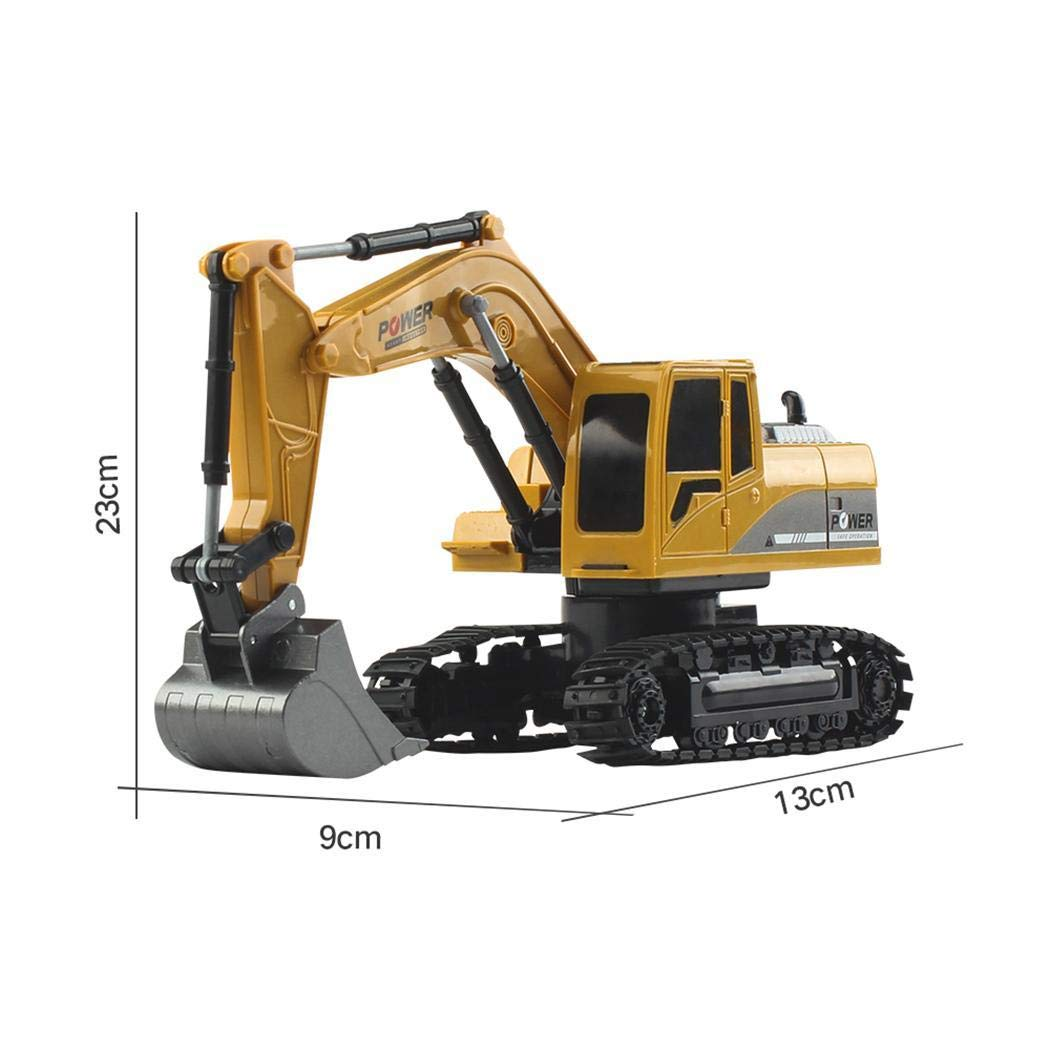 banlany 1:24 Four-Wheel Drive Crawler Excavator Remote Control Car Toy Educational with Light Toy Gift for Kids
