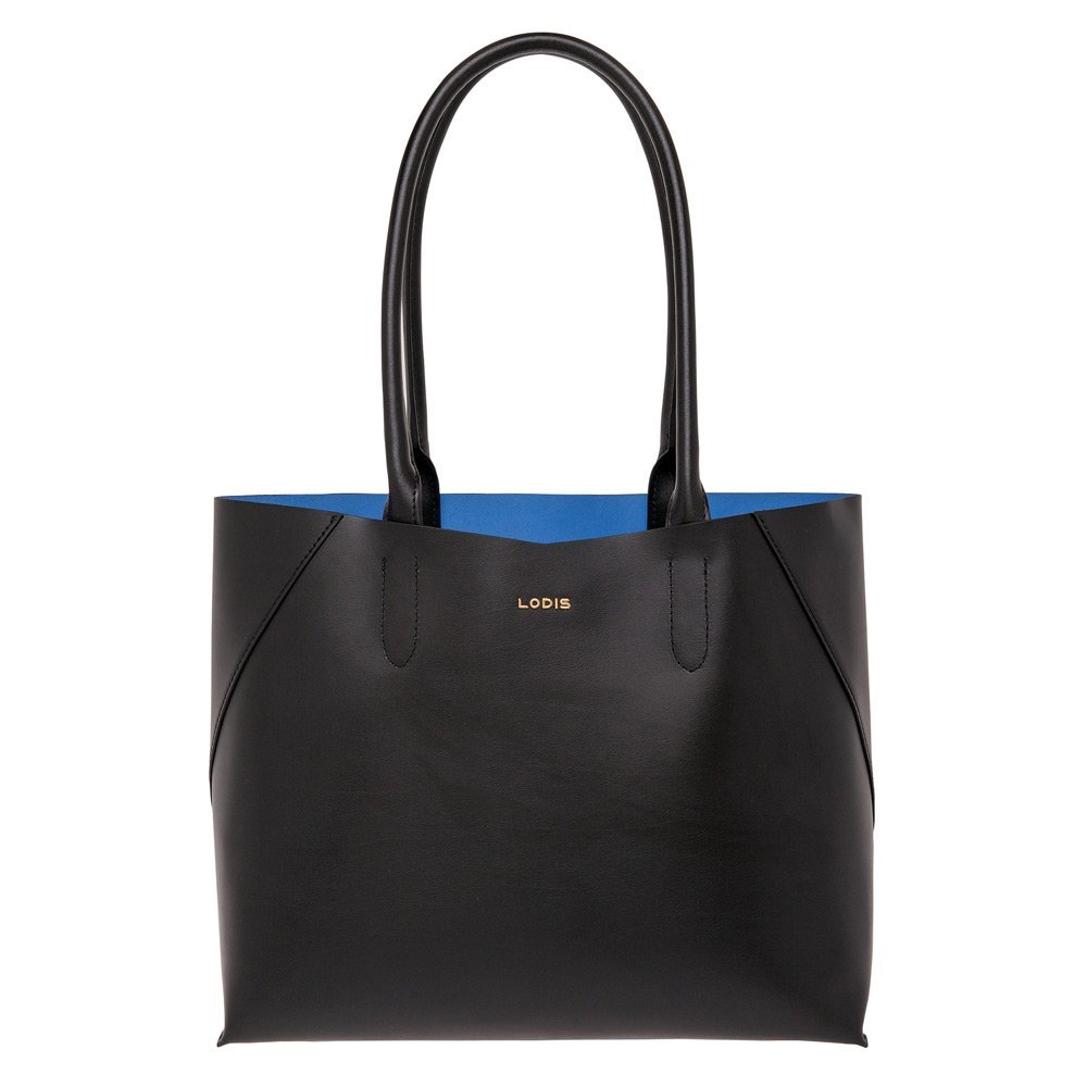 LODIS Women's Cynthia Tote Bag, Black/Cobalt