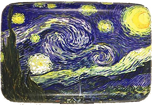 Art Wallet (RFID Secure Armored Wallet - Fine Art 1, Starry Night)