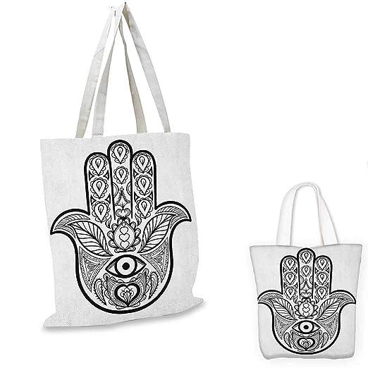 HamsaCurvy - Tatuaje étnico con diseño de flores, color negro y ...