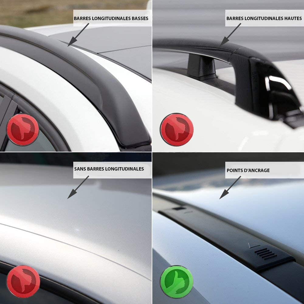 Farad Barres de Toit Compact en Aluminium Gris a/érodynamiques et Super-silencieuses pour Opel Corsa D 2006-2014 sans Barres longitudinales sans Barres longitudinales