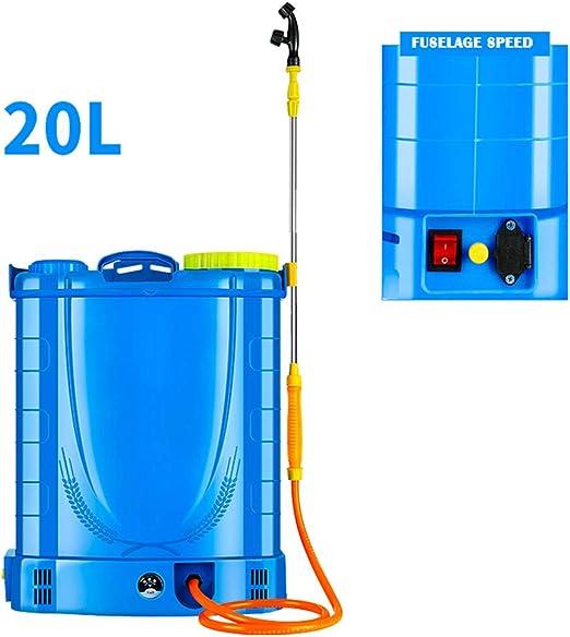 JTYDFG Mochila Pulverizador, Ressure Sprayer Knapsack fumigador de jardín Pesticidas eléctricos 16L / 18L 20L Pulverizador de presión eléctrico para jardinería Jardín de césped Granja (Azul): Amazon.es: Jardín