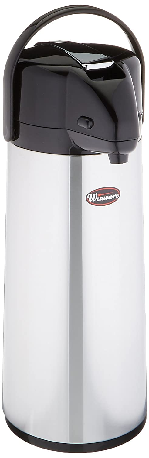 Winco Glass Lined Airpot, 2.5-Liter, Lever Top Winco USA AP-825