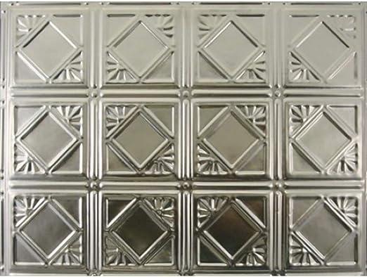 "1 Pc Antique Decorative Tin Ceiling Tile Panel Vtg Wall Art 24/"" x 24/"" Panel #3"