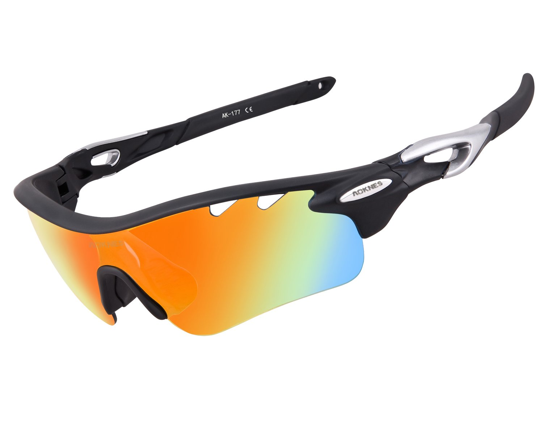 AOKNES 177 - Gafas de sol deportivas  Amazon.es  Deportes y aire libre 66913dc289