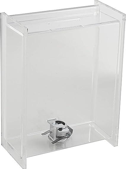 Mi caridad cajas – donación caja – Urnas – Caja de Colección – Punta contenedor clara – W/puerta corredera y pantalla, color transparente: Amazon.es: Oficina y papelería