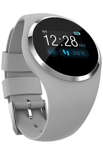 Reloj inteligente con Bluetooth para hombres y mujeres, monitor de presión arterial, rastreador de actividad.: Amazon.es: Relojes