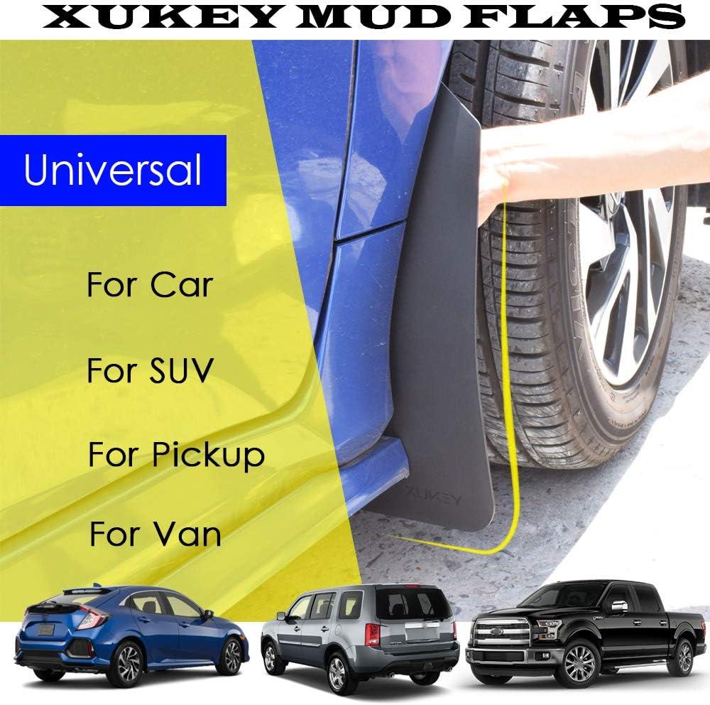 4X4 4WD OFF-ROAD MUD FLAPS SPLASH GUARDS FOR UNIVERSAL CAR TRUCK BLACK PLASTIC