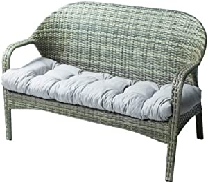 "Indoor/Outdoor Bench Cushion Cotton Garden Furniture Loveseat Cushion, 51.2""x19.7"" Patio Wicker Seat Cushions for Lounger Garden Furniture Patio Lounger Bench (Gray)"