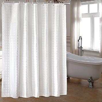 Amazon.com: Ufaitheart Extra Long Fabric Shower Curtain 72 x 78 ...