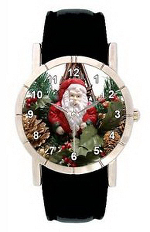 jwl0962クリスマスサンタクロースメンズ用レディース本革クォーツ腕時計 B01N4F19C9