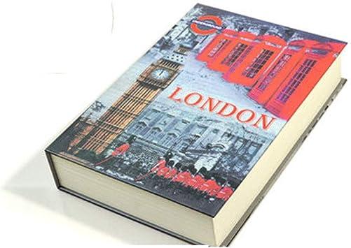 Libro de Transferencia Caja Fuerte gxfxq Libro de compartimientos Ocultos Tiene un Espacio Seguro for Llevar y esconder Cosas Importantes Libro Oculto (Color : B, Size : 220mm*152mm): Amazon.es: Electrónica