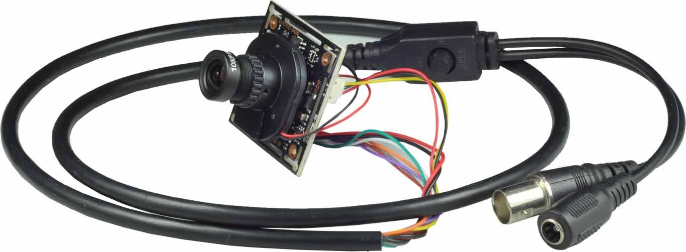 Ansice 720P AHD CCTV Board Camera 3.6mm Lens Wide Angle AHD CMOS Chips Board Security With IR-CUT For AHD System Only With Power Supply
