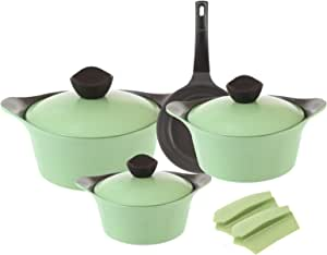 Neoflam Aeni Cooking Set, 9 Pieces - Light Green