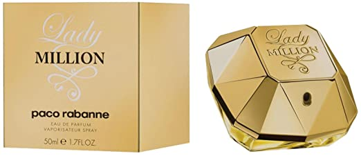 Paco Rabanne Lady Million by Paco Rabanne Eau De Parfum Spray for Women, 1.70 Fluid Ounce