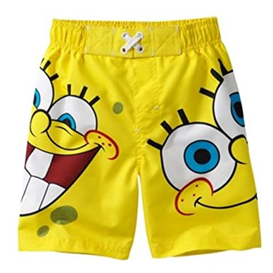 9c460ba9ee Image Unavailable. Image not available for. Color: Toddler Boys Spongebob  Swim Trunks Yellow Sponge Bob ...