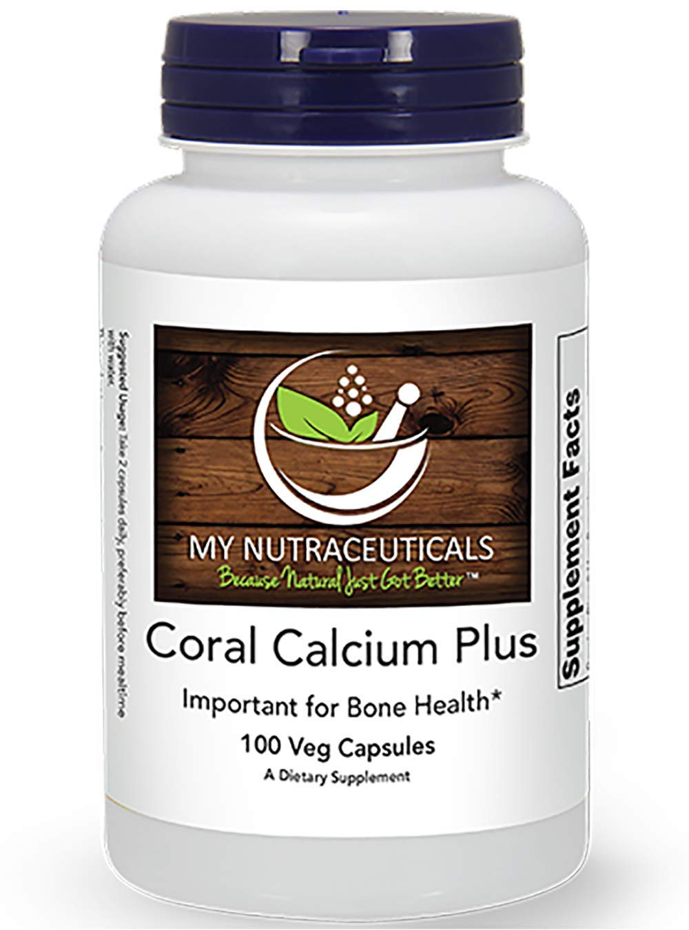 Coral Calcium Plus, My Nutra, 100% Vegetarian Capsules