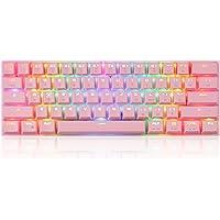 Teclado Mecânico Gamer MOTOSPEED CK62, RGB, Switch Outemu Vermelho, Bluetooth, US - Rosa